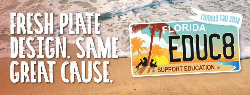 Florida S Support Education Specialty License Plate Gets A Fresh